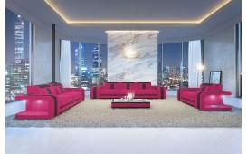 Designer Sofa SPACE 3+2+1 mit LED Beleuchtung