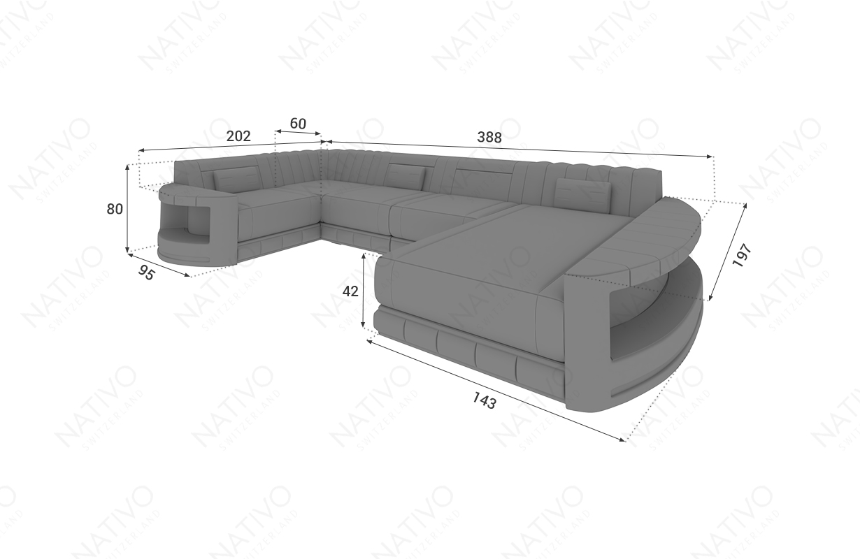 Designer Sofa ATLANTIS XL im Online Shop Nativo