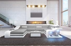 Canape D Angle Avec Led Idees D Images A La Maison