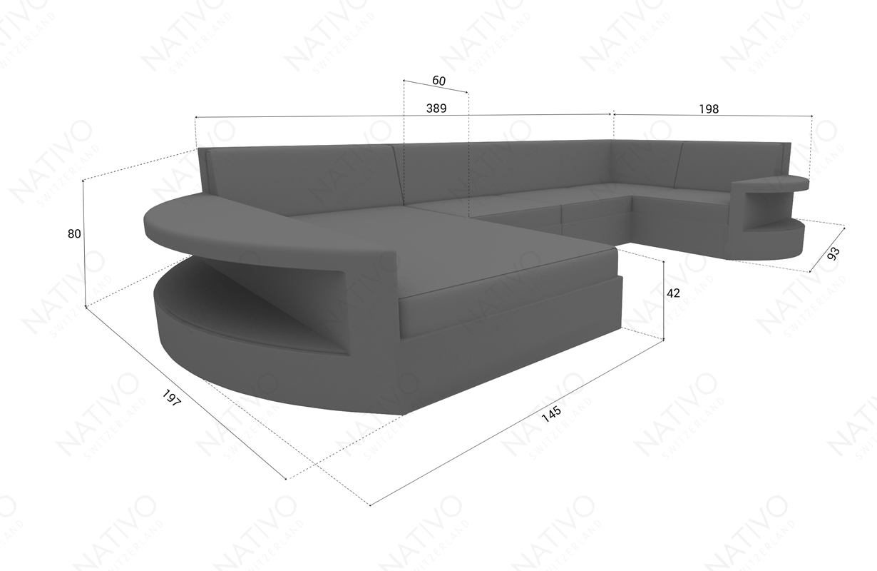 Designer Rattan Lounge Sofa ATLANTIS XL v2