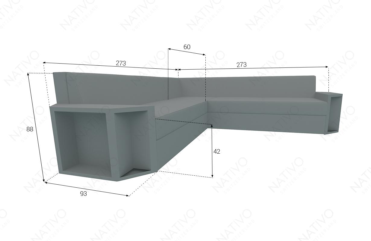 Designer Rattan Lounge Sofa AVENTADOR CORNER v2 NATIVO™ Möbel Schweiz