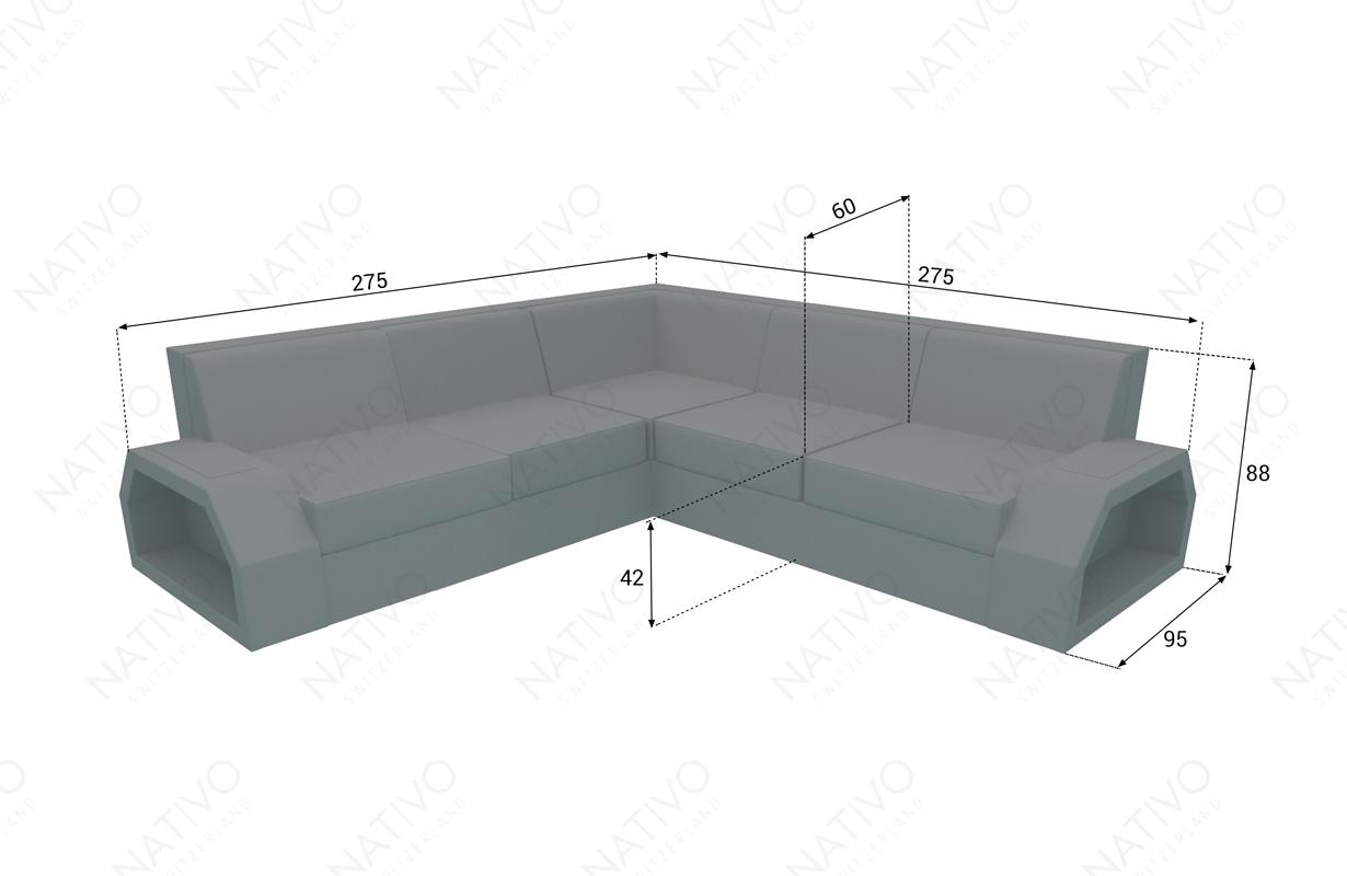 dimensionen rattan sofa CLERMONT CORNER v2