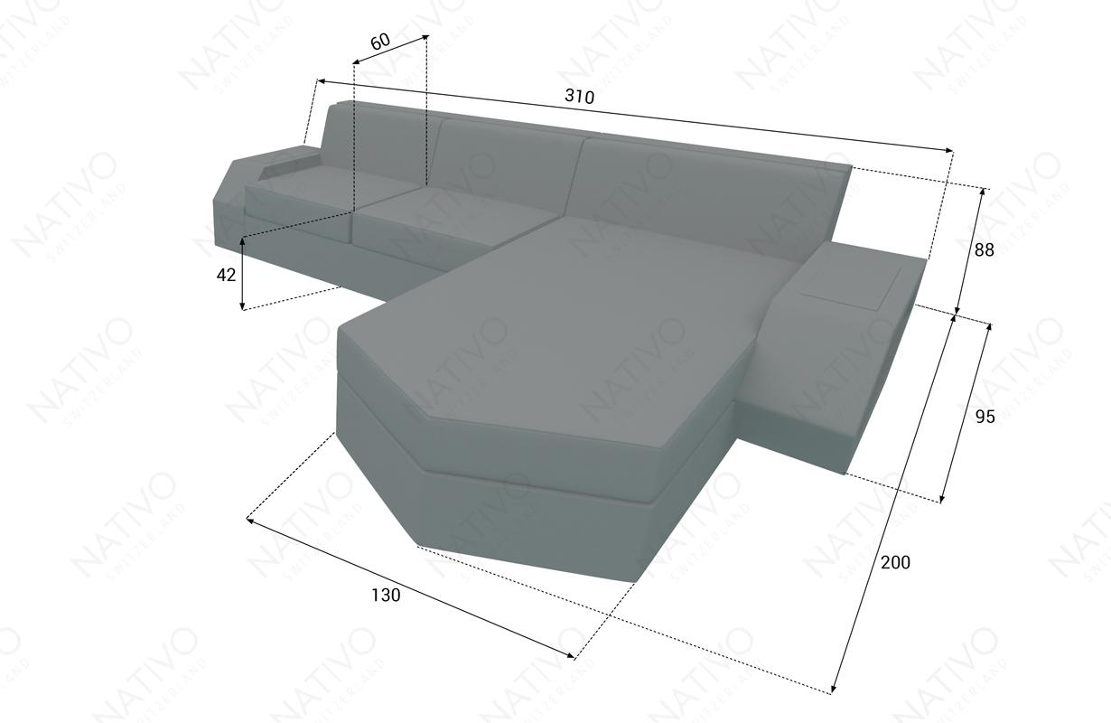dimensionen rattan sofa CLERMONT MINI v2