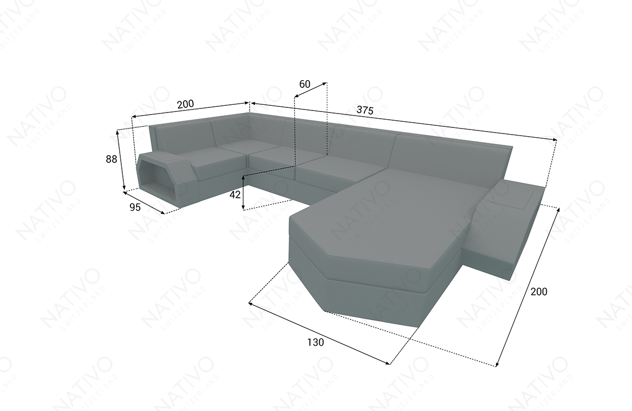 dimensionen rattan sofa CLERMONT XL v2