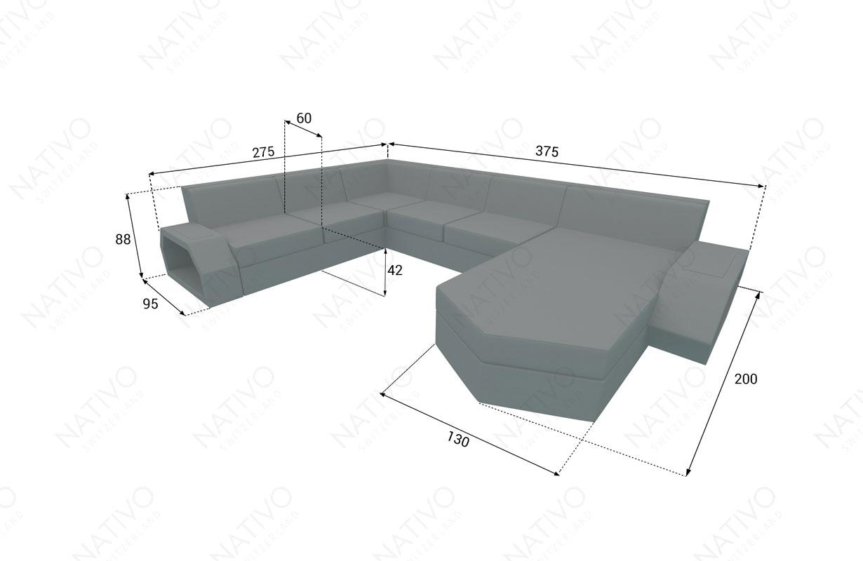 dimensionen rattan sofa CLERMONT XXL v2