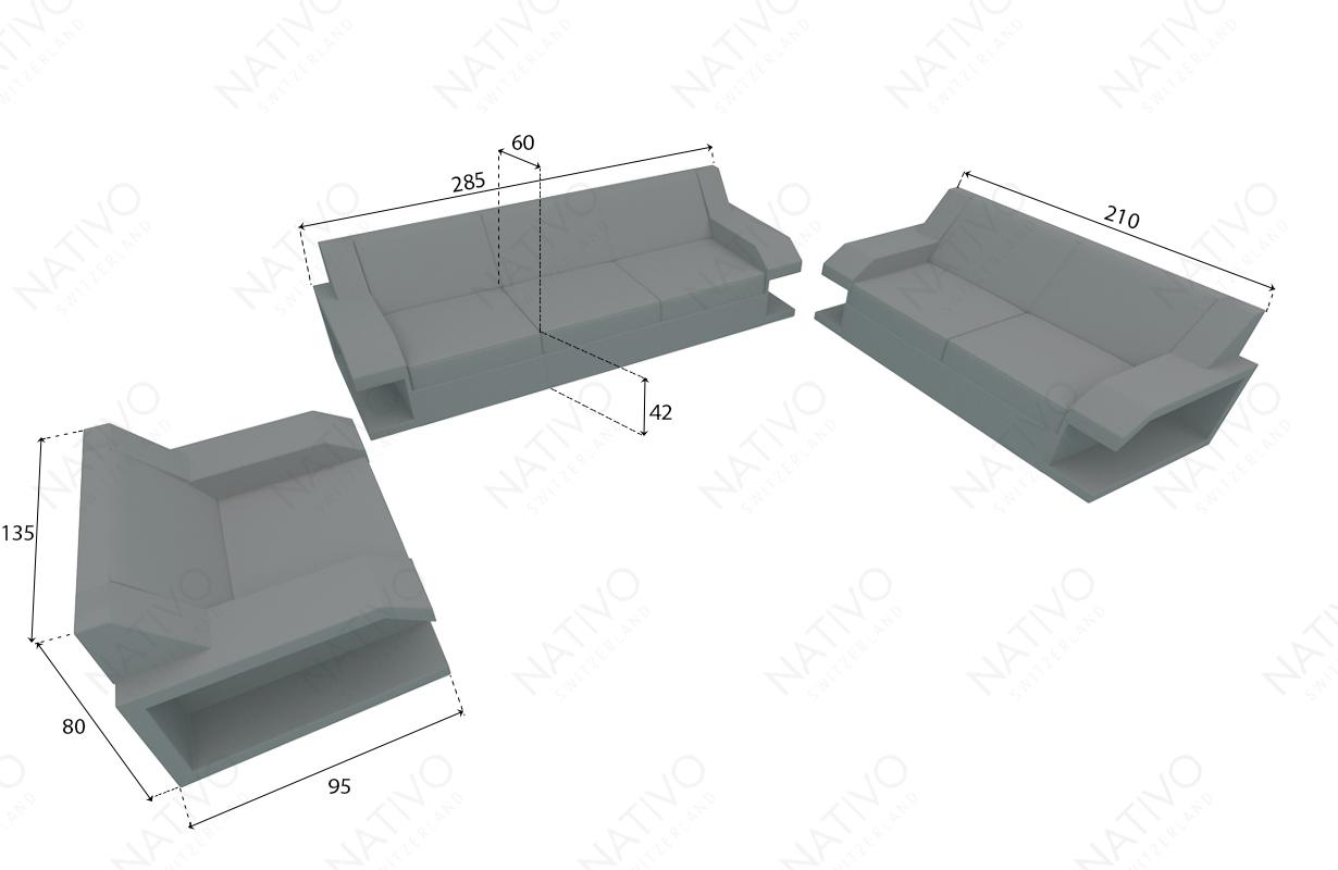 Designer Rattan Lounge Sofa MATIS NATIVO™ Möbel Schweiz
