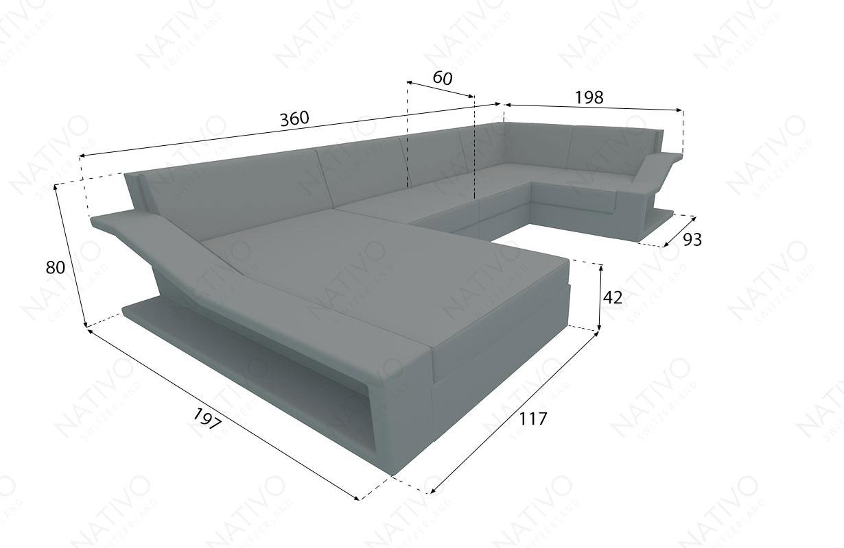 Sofa en rotin MIRAGE NATIVO™ Möbel Schweiz