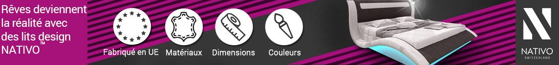 lit design NATIVO mobilier France